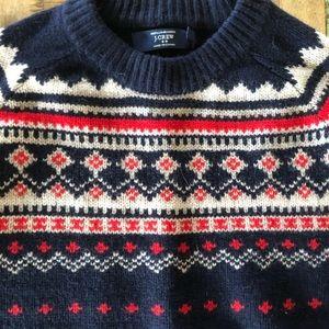 J crew men's fair isle sweater